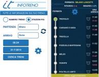 Infotreno, una nuova app che offre tutte le informazioni sugli orari dei treni