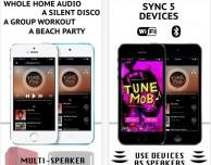 TuneMob Play Music in Sync: musica sincronizzata e condivisa su più dispositivi iOS
