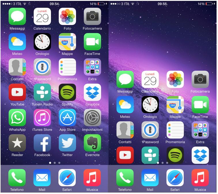 schermata home iphone 6 non ruota
