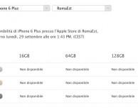 """Apple riattiva il servizio """"Prenota e Ritira"""":  pochissimi iPhone 6 Plus, buona disponibilità per l'iPhone 6"""