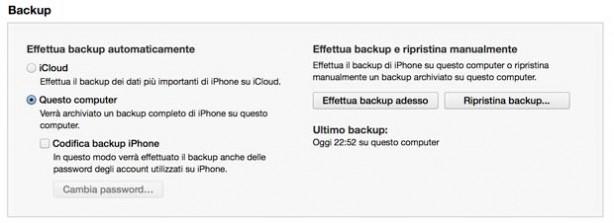 Nuovo iphone ecco come effettuare il backup del vostro for Cambiare il percorso dei backup del tuo iphone