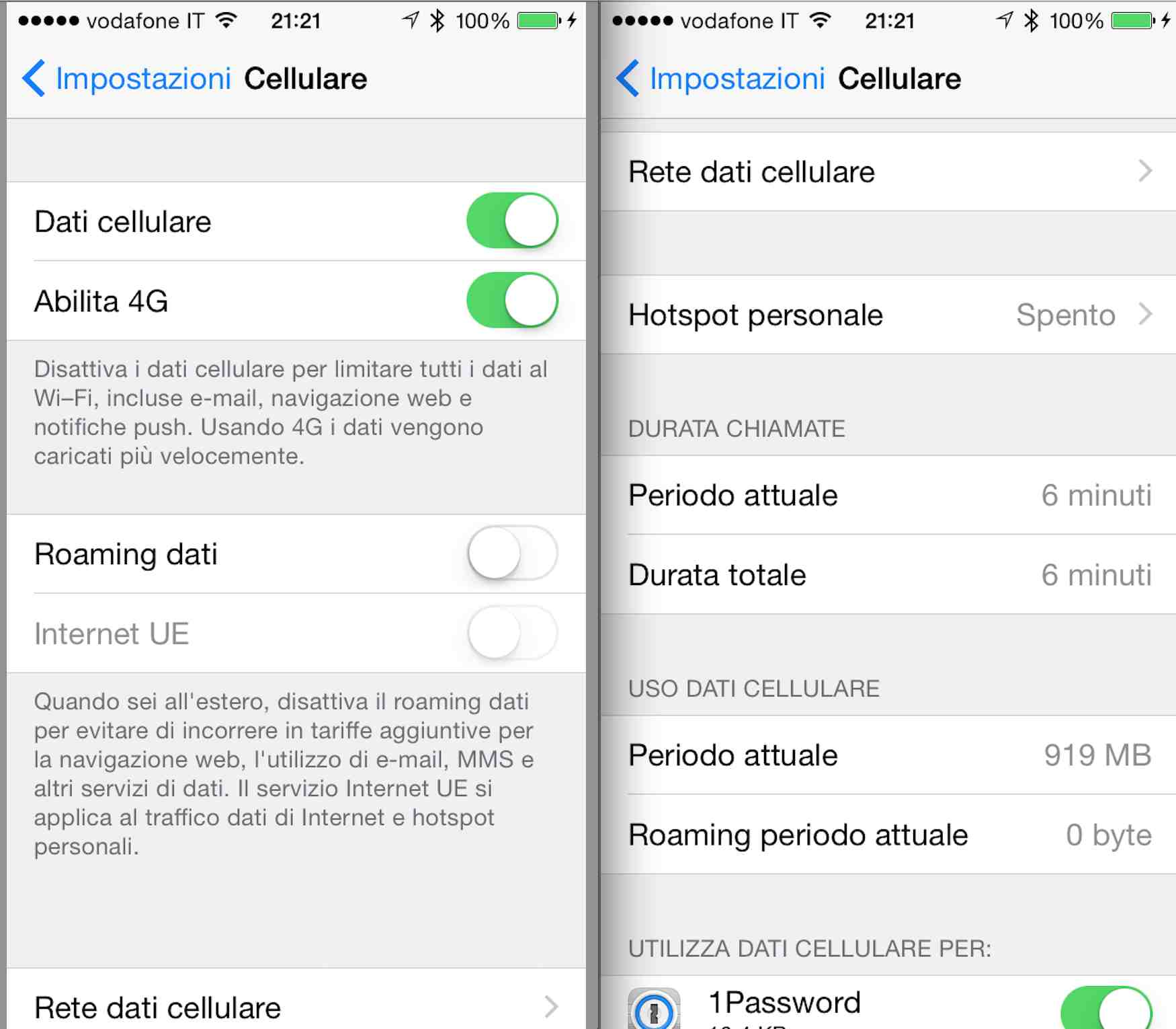 Configurare il roaming - Apple iPhone 7 - iOS 10 - CoopVoce Guides
