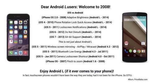 Ecco la risposta degli utenti Apple agli sfottò di Android