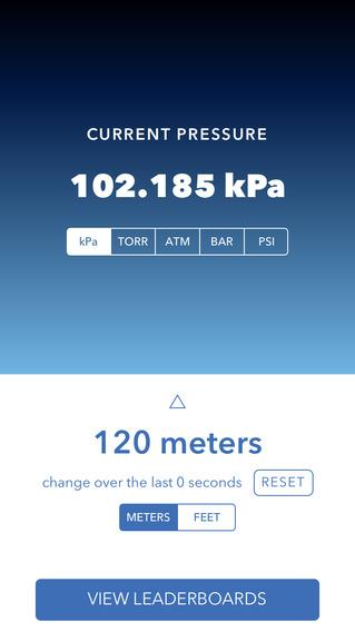 Barometer++ iPhone 6 pic0