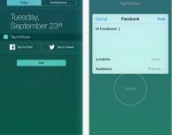 Come aggiungere i widget Facebook e Twitter nel centro notifiche con TapToShare