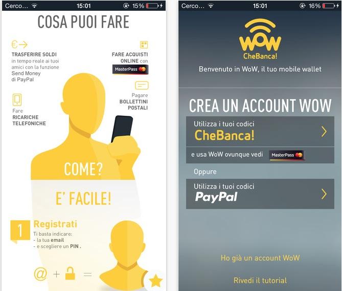 WoW, la nuova app di CheBanca! - iPhone Italia