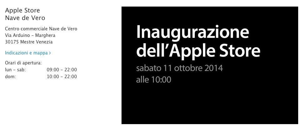 Apple Store Nave de Vero a Marghera: ufficiale l'apertura sabato 11 ottobre