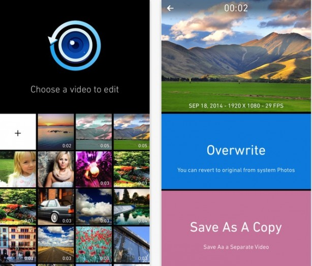 how to make reverse video on iphone