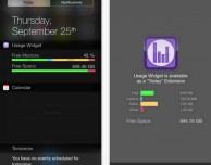 Usage Widget: un widget molto leggero e utile per iOS 8