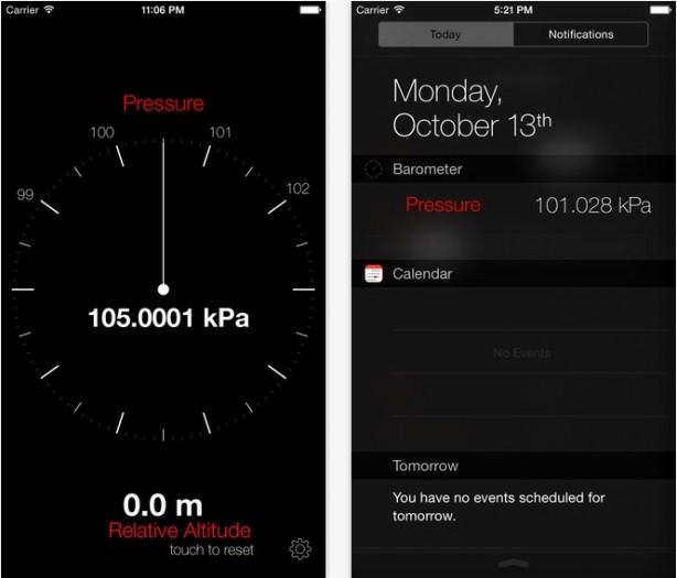 Barometer+widget per iPhone 6 pic0
