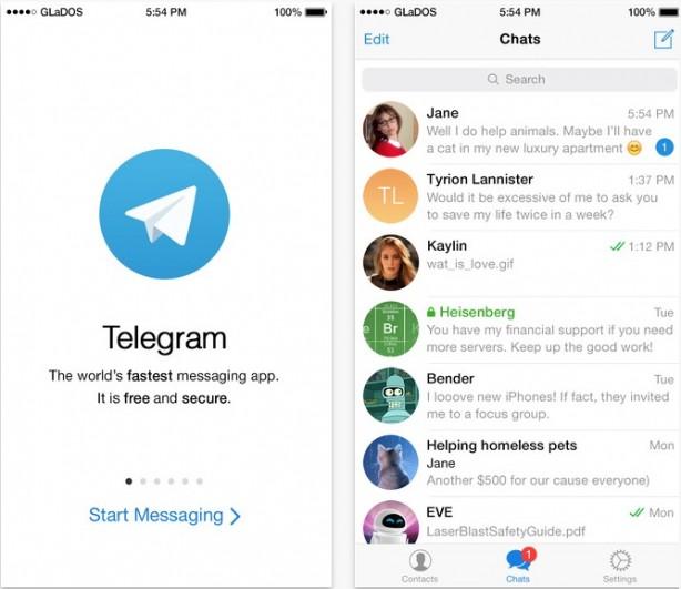 Telegram si aggiorna: arrivano nome utente e chat segrete