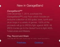 Apple rilascia il pacchetto speciale (RED) in GarageBand
