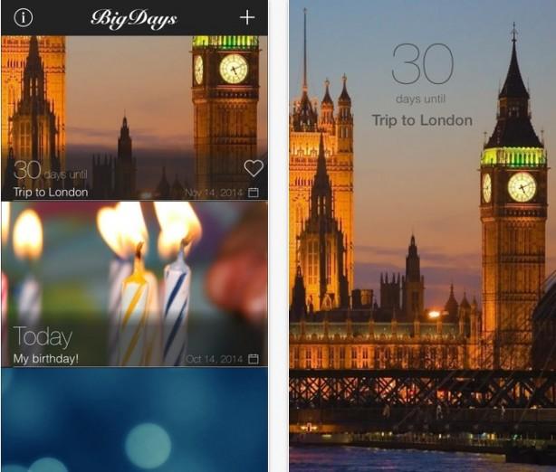 Big Days - Countdown eventi iPhone pic0