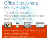 Microsoft Office arriva su iPhone, ed è gratuito!