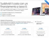 Apple Store Online: attivo il finanziamento a tasso 0
