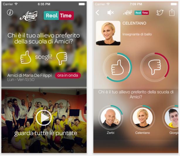 Amici Real Time: l'app ufficiale di Amici di Maria de Filippi