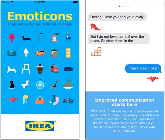 Le emoticon secondo IKEA in una nuova tastiera per iPhone
