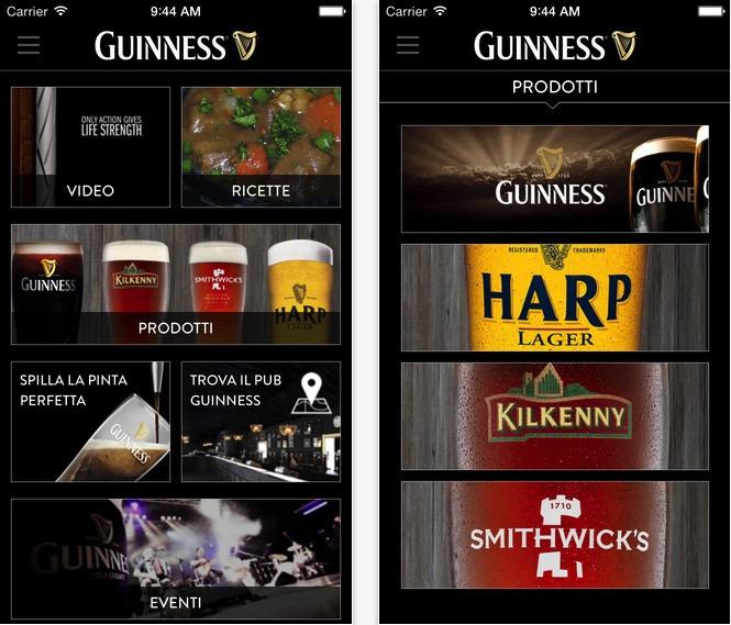 La birra Guinness approda su iPhone