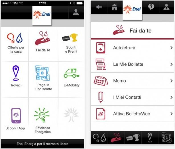 Enel energia l 39 app ufficiale per gestire e pagare le for Enel gas bolletta