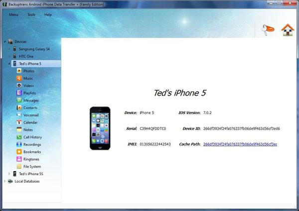 Backuptrans iphone data transfer un software per gestione for Cambiare il percorso dei backup del tuo iphone