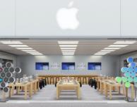 Le vetrine degli Apple Store pronte per il lancio dell'Apple Watch