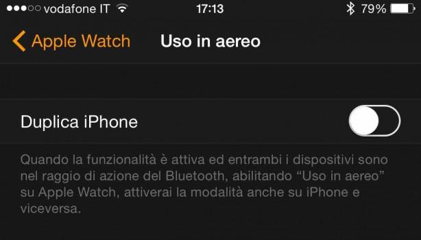 Come abilitare la modalità aereo su iPhone ed Apple Watch nello stesso momento