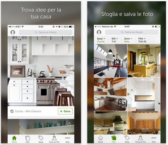 Houzz l 39 app dell 39 omonima piattaforma online per l for App design interni
