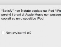 iPod Nano, Shuffle e precedenti non compatibili con Apple Music!