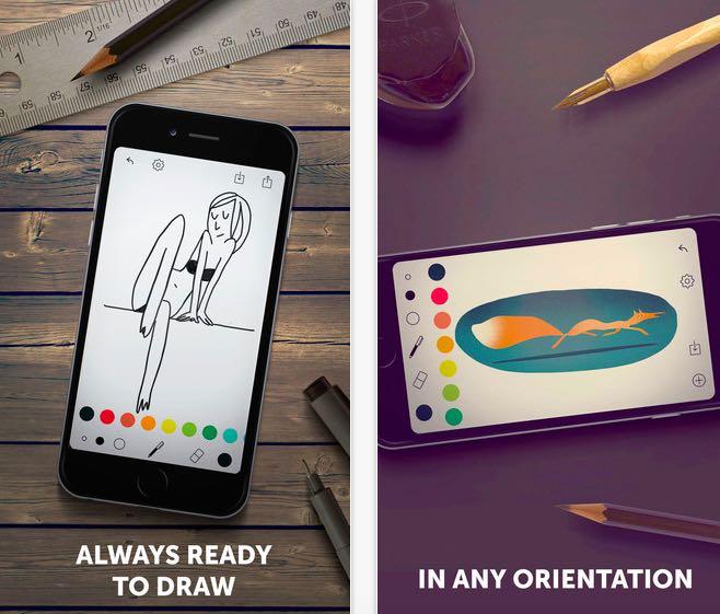 Tayasui memopad una delle app di disegno per iphone pi for App per disegnare casa