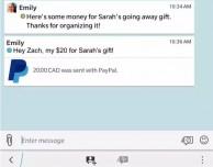 BBM di BlackBerry si aggiorna e permette l'invio di denaro con PayPal