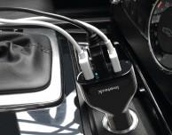 Inateck AL3001, il caricabatterie per auto con tre porte USB 3.0