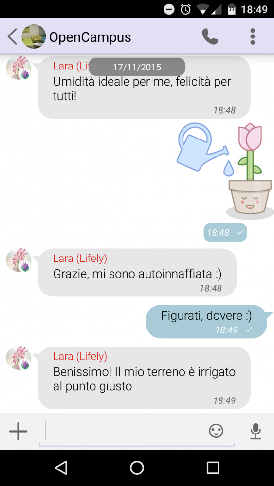 Indoona Tiscali Has The Chat Which Does Interact Bitfeed Co
