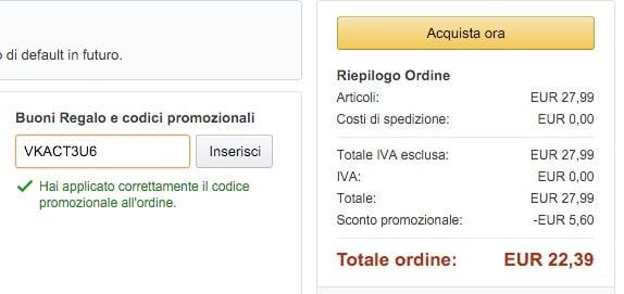 CODICE SCONTO AMAZON DVD
