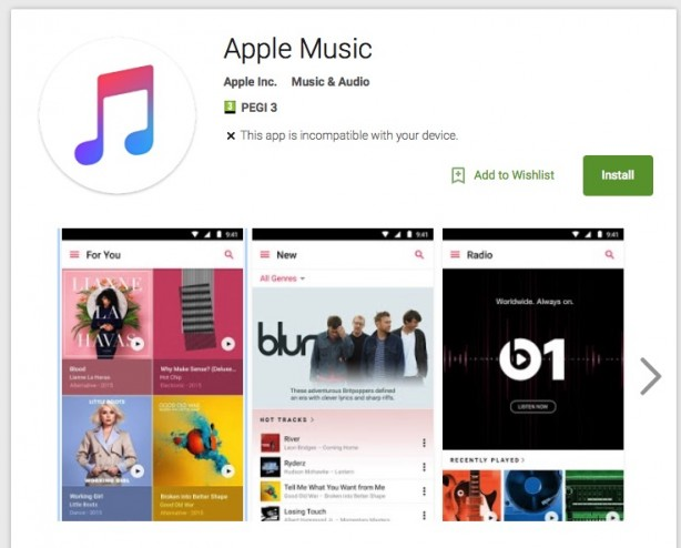 Apple's Music Application Works great with Android Devices.