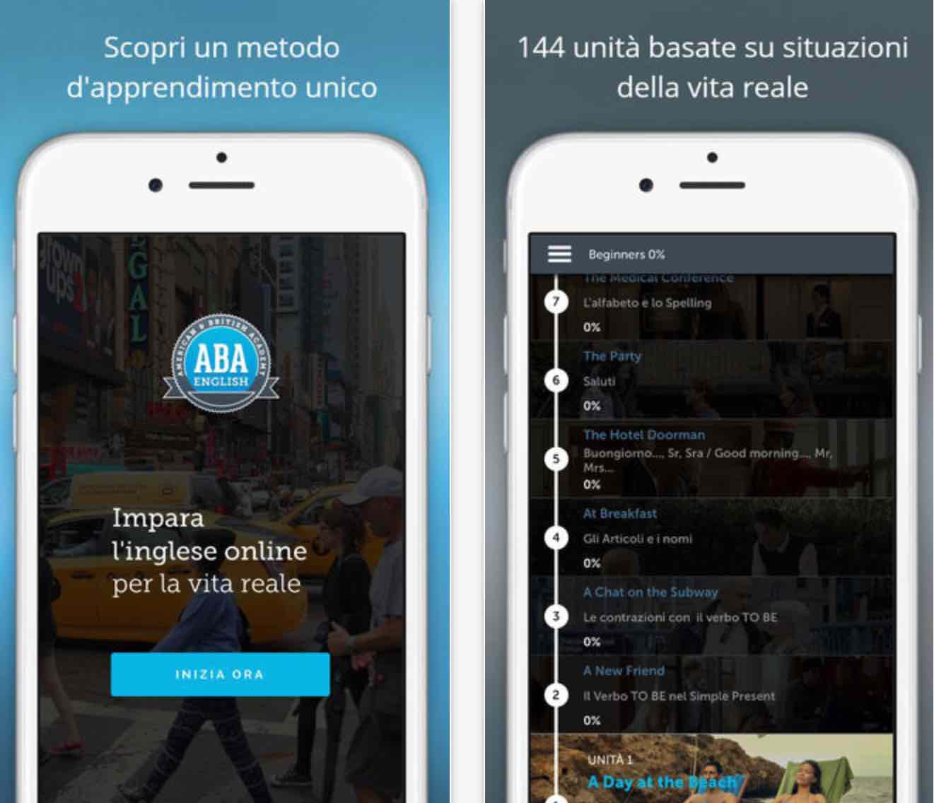 Aba english l 39 app per imparare l 39 inglese su iphone for Cuffie antirumore per studiare
