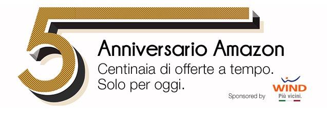 5 anni di amazon italia centinaia di sconti solo per oggi for Sconti per amazon