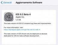 Apple rilascia iOS 9.2 beta 4!