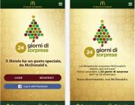 Con l'app McDonald's avrai una sorpresa al giorno fino al 24 dicembre