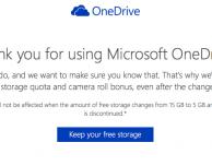 Windows permette di conservare i bonus da 15GB su OneDrive