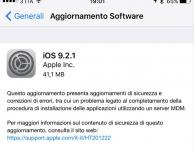 Apple rilascia iOS 9.2.1: bug fix e miglioramenti per la sicurezza