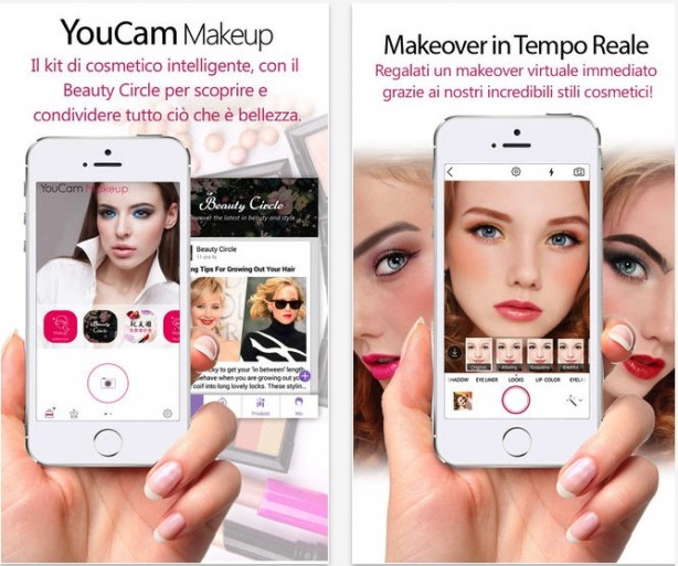 YouCam Makeup: try new look directly on the iPhone