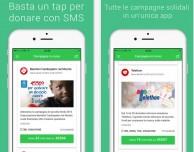 """""""Dona con SMS"""", l'app dedicata alle donazioni solidali"""