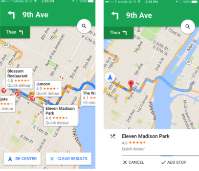 "The ""deviations"" in Google Maps available on i    