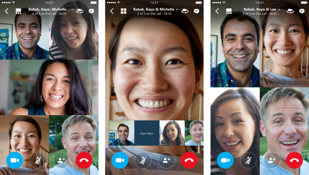 Microsoft announces group video calling on Skype f