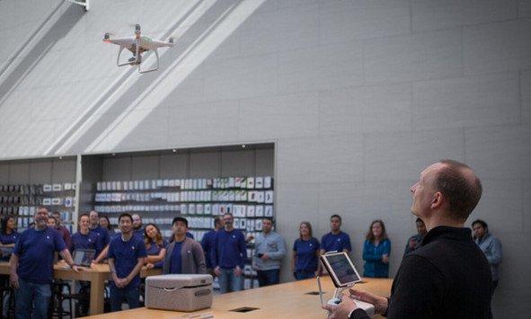 I dipendenti degli Apple Store si preparano a vendere i droni di DJI