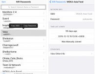 Wifi Passwords List, tutte le tue password del WiFi a portata di mano su iPhone – Cydia