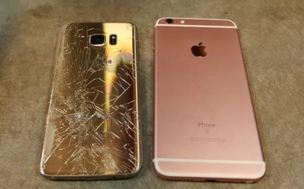 drop test s7 iphone 6s plus
