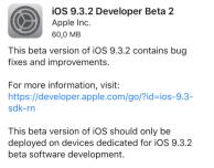 Apple rilascia iOS 9.3.2 beta 2 e watchOS 2.2.1 beta 2 agli sviluppatori! [AGGIORNATO: disponibile beta pubblica]