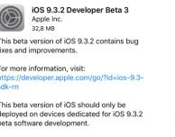 Apple rilascia iOS 9.3.2 beta 3 agli sviluppatori! [AGGIORNATO]