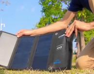 BlitzWolf 20W Solar Charger, il sistema che ricarica l'iPhone con l'energia solare